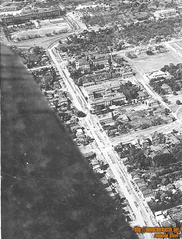 Вид ул. Михайловской с самолета, 1935-36 г.