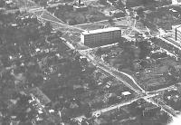 Вид с самолета общежития НИИ (НПИ) на углу Бакунина - Богдана Хмельницкого 1935-36 г.