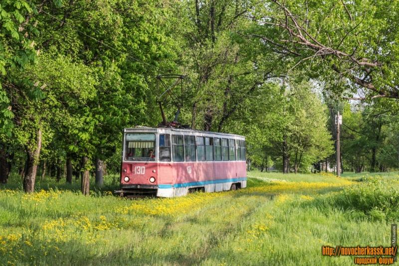 Трамвай в районе НЭВЗа