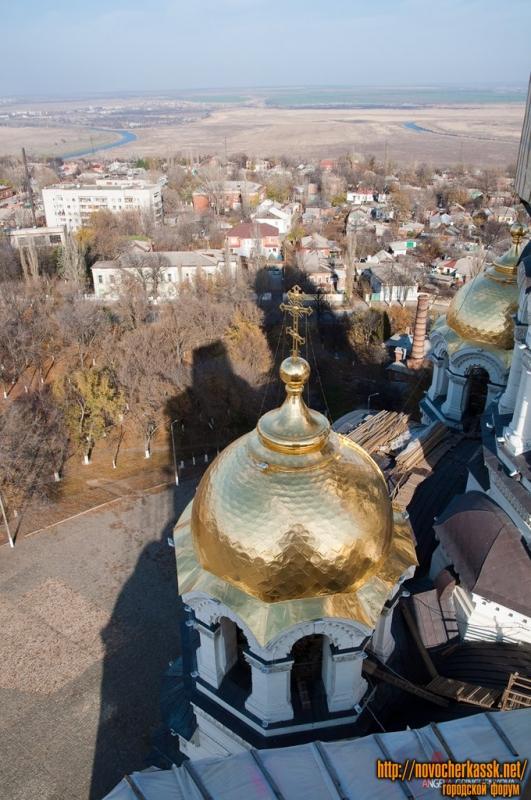 Купола собора в Новочеркасске