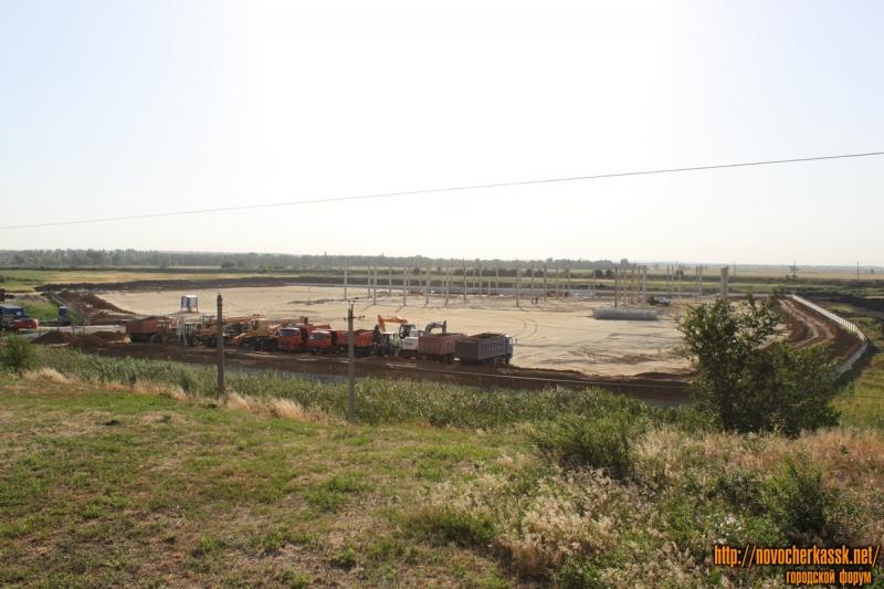 Строительство ТЦ Лента в микрорайоне Хотунок