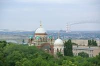 Александро-Невский храм. Покраска куполов