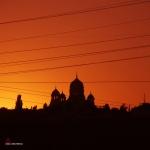 Закат и собор в Новочеркасске