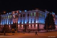 Городской дом культуры с подсветкой