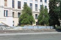 Замена тротуарной плитки перед главным корпусом ЮРГПУ (НПИ)