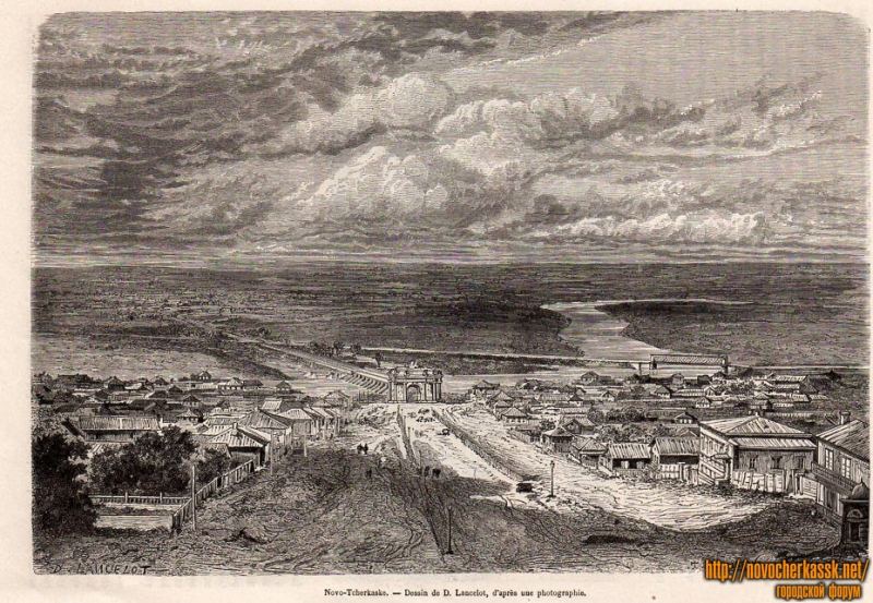 Гравюра - Санкт-Петербургский спуск (спуск Герцена)