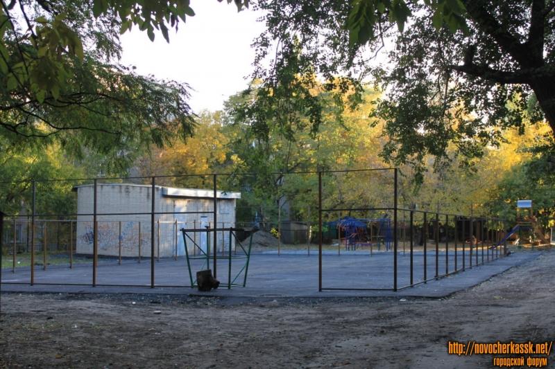 Строительство спортивной площадки. Проспект Баклановский, 78