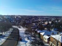 Вид на город с трумфальной арки. Слева - Платовский проспект. Прямо - автобат.