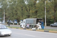 Установка памятников коням на проспекте Баклановском