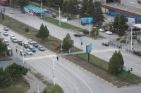 Пешеходный переход через проспект Баклановский в районе Юбилейной площади