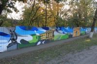 Граффити на Баклановском: Платов, НПИ, арка
