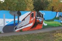 Граффити на Баклановском: электровоз НЭВЗ