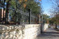 Ограда автотранспортного колледжа. Улица Александровская, 72
