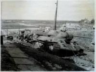Подбитый танк на спуске Герцена. Фотография времен оккупации