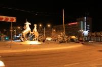 Площадь Юбилейная ночью