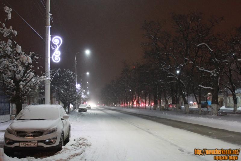 Вечерний проспект Баклановский