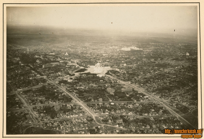 Съемка Новочеркасска с самолета. 1918 год