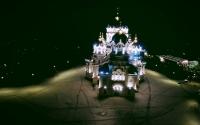Собор ночью с квадрокоптера