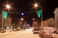 Улица Московская с новогодними украшениями