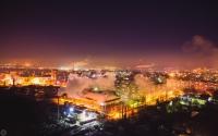 Вид на город со стороны рощи. 1 января 2015 года