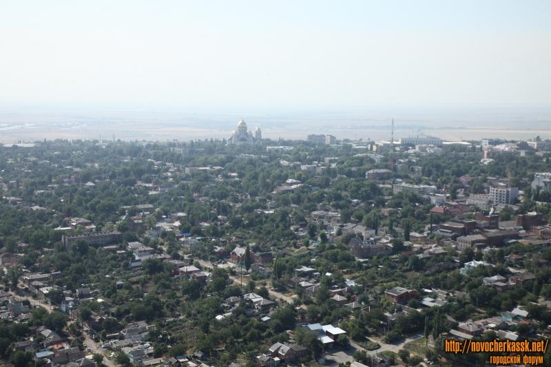 Вид на Новочеркасск с самолёта