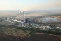 Новочеркасская ГРЭС с самолёта. Строительство 9 блока