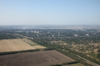 Вид на посёлок Октябрьский с самолёта