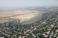 Вид на город и реку Аксай