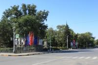 Пересечение Платовского и Московской. Памятник Платову