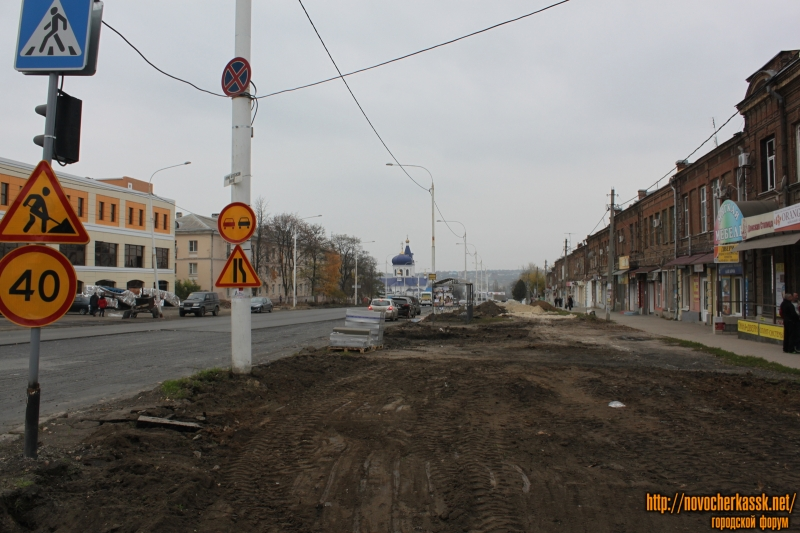 Сооружение аллеи на проспекте Платовском