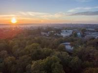 Закат над Александровским парком