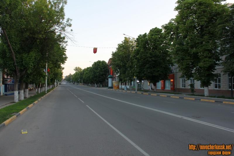 Улица Московская в 6 утра