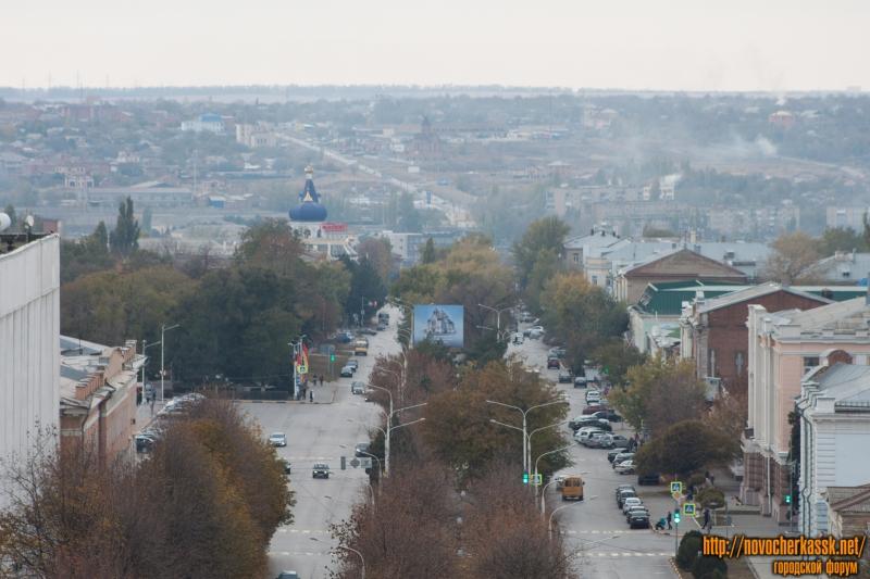 Вид на Платовский проспект с собора