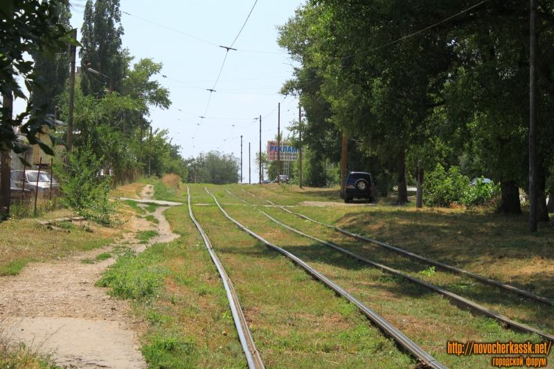 Трамвайные пути на улице Первомайской