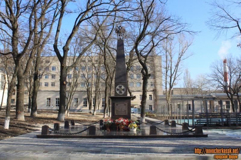 Памятник донским политехникам, добровольцам Первой Мировой войны 1914-1918 года. Установлен в ноябре 2015 года