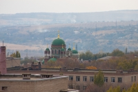 Вид на храм Александра Невского из собора