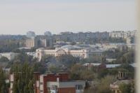 Вид на главный корпус ЮРГПУ (НПИ) с колокольни собора