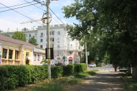Улица Просвещения. Вид на улицу Московскую
