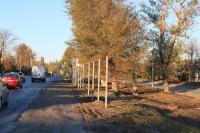Строительство забора на улице Гагарина