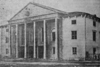 Строительство дома культуры на посёлке Октябрьском. 1955 год