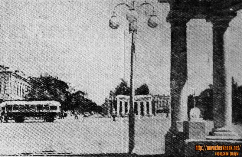 Площадь у Ленинского сквера. Сентябрь 1954 года