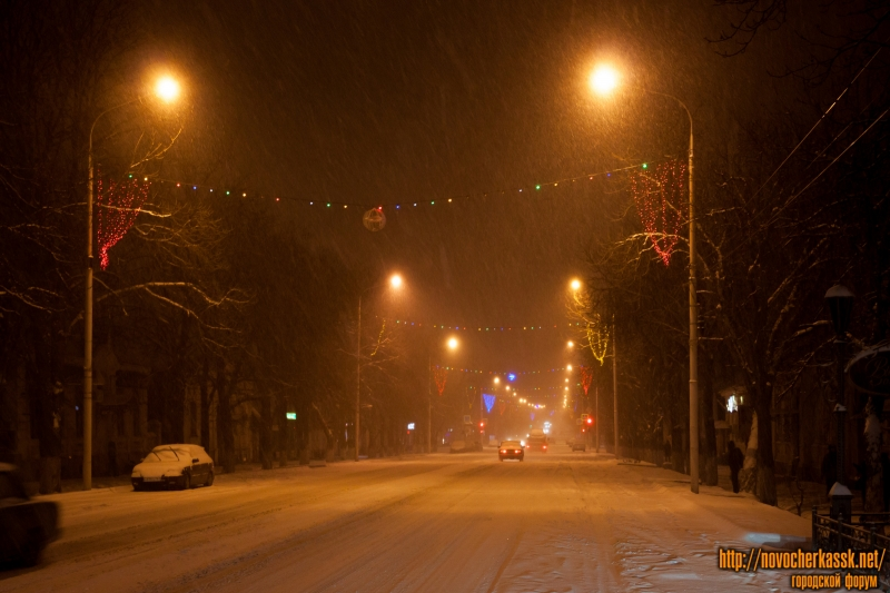 Снегопад 28 декабря 2015 года. Улица Московская