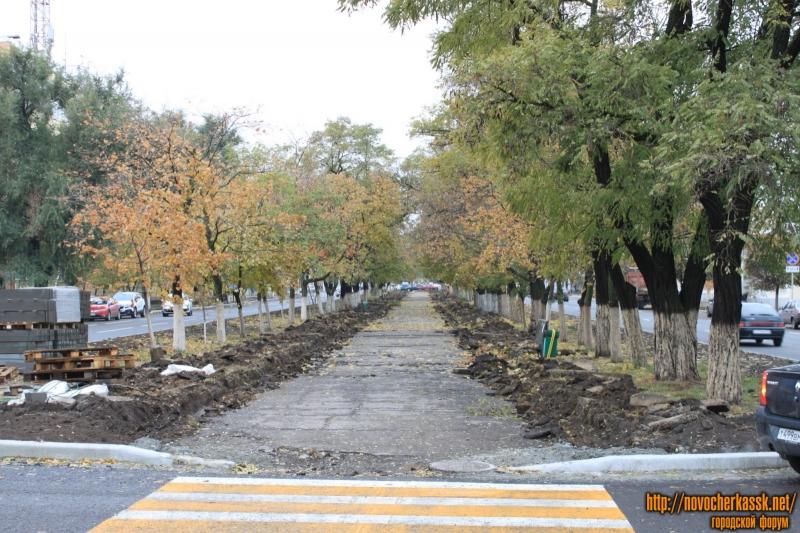 Ремонт аллей на проспекте Баклановском