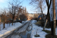 Улица Шумакова. Вид с Просвещения в сторону Школьной