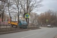 Сооружение нового пешеходного перехода на Баклановском