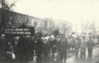 Колонна демонстрантов. Проспект Подтёлкова