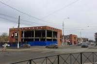 Строительство ТЦ на углу Баклановского и Крылова