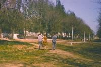 Начало аллеи 40-летия Победы (перед рощей)
