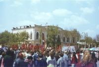 Демонстрация на площади Ермака