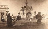 Часовня у Азовского рынка, юго-западный угол при пересечении проспекта Платовского и ул. Базарной (Б.Хмельницкого)